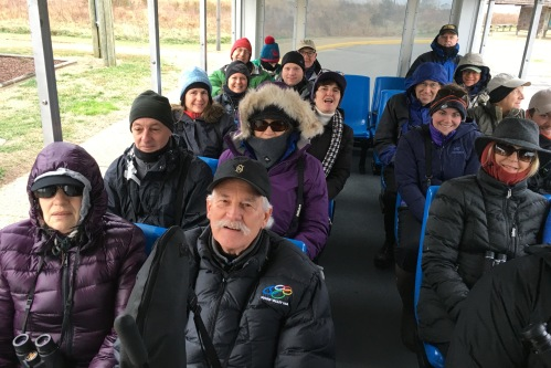 Bundled-up birders enjoyed the 2017 winter trip!